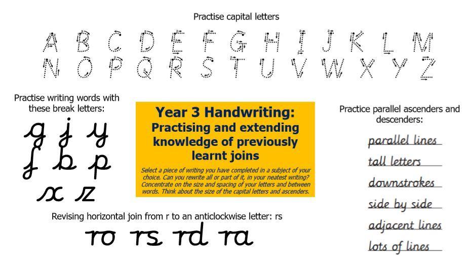 Handwriting 5 Y3
