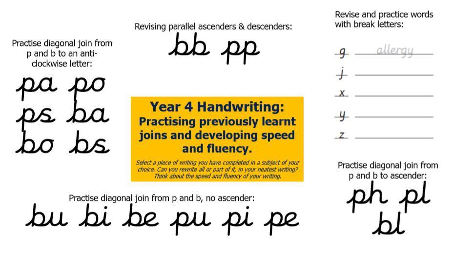 Handwriting 6 Y4