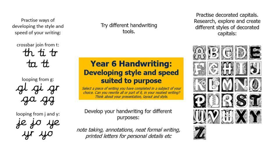 Handwriting 8 Y6