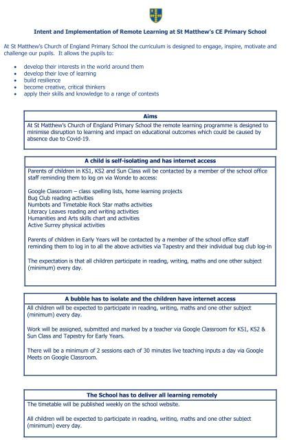 Remote Learning Offer p1